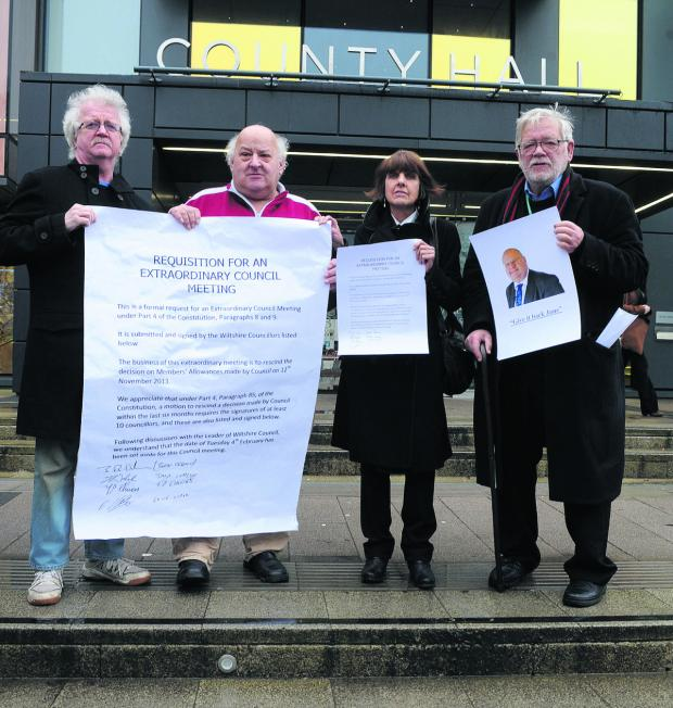 This Is Wiltshire: Independent councillors Ernie Clark, Terry Chivers, Helen and Jeff Osborn call for Wiltshire Council to rescind the expenses increase