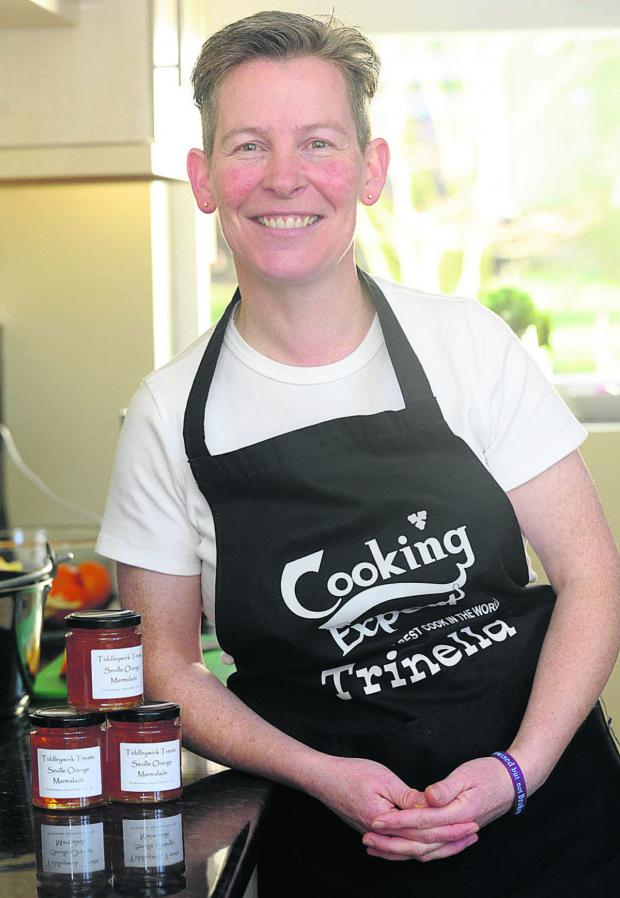 This Is Wiltshire: Trina Swan, who set up Tiddleywink Treats last year, started out by giving homemade jam as Christmas presents