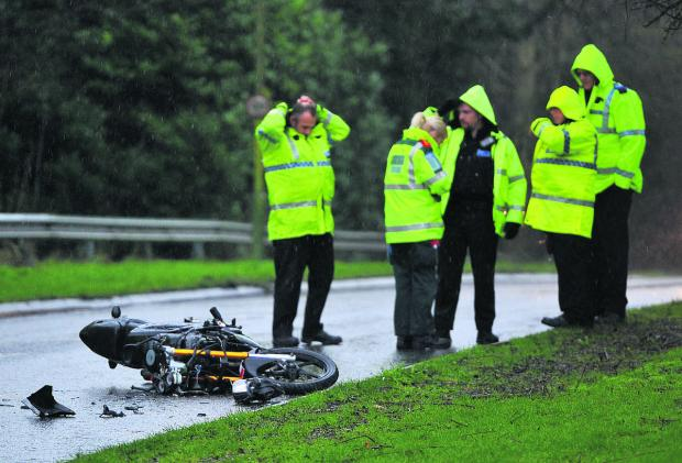 This Is Wiltshire: A lucky escape for car collision biker