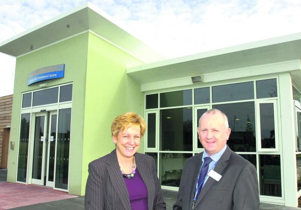 This Is Wiltshire: Devizes NHS Treatment Centre with managers Glenys Mansfield and Kevin Walsh