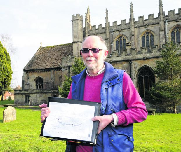 This Is Wiltshire: Tony Scorer, chairman of the St Mary Future Group, outside the Devizes church