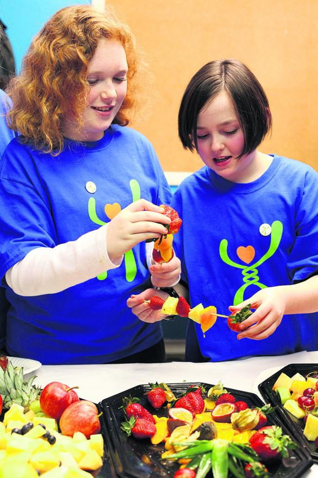 This Is Wiltshire: Children enjoy their MEND healthy eating session