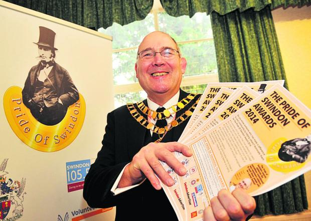This Is Wiltshire: Mayor Nick Martin launches the awards last month