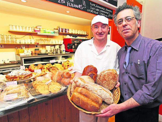 This Is Wiltshire: Baker Rafal Mozal and head baker Giovanni Campanella