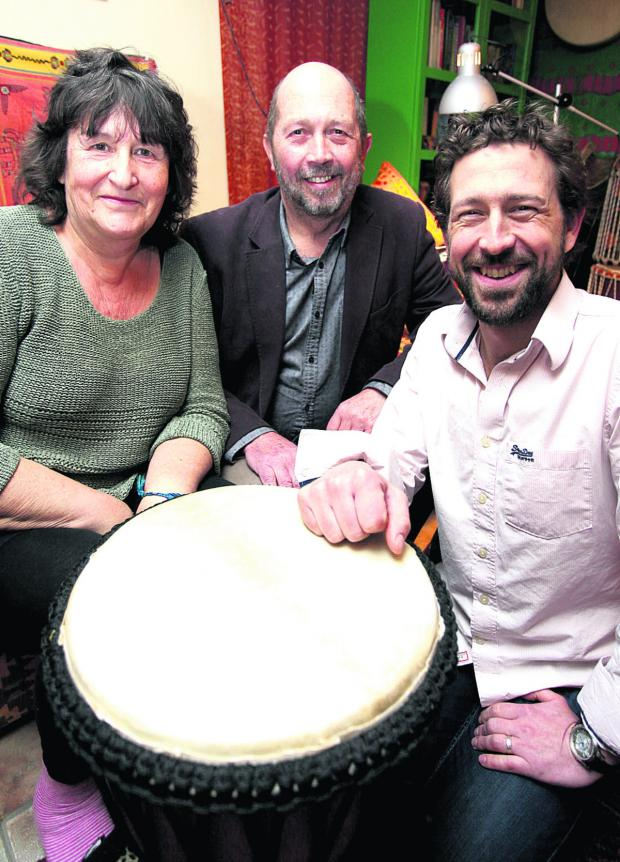 This Is Wiltshire: Di and Geoff Miles with their son Alex, who manages Kaya Rhythm & Arts