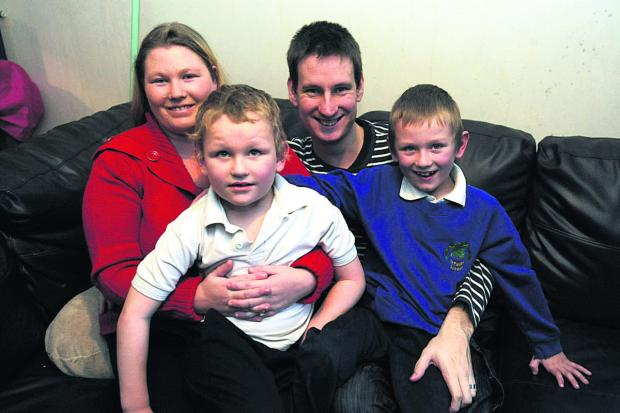 This Is Wiltshire: The Ellery family Emma, Antonio, John and Declan at home in Chippenham