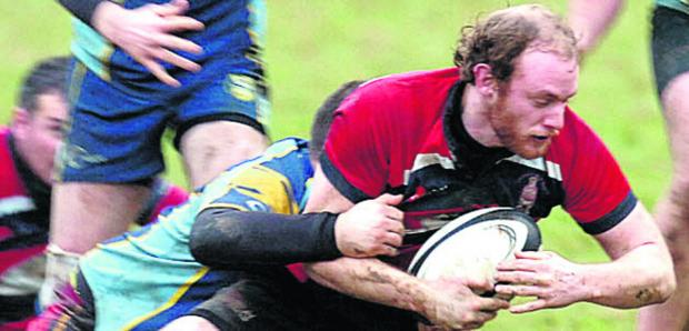 This Is Wiltshire: Phil Vallis scored a try in Pewsey's first league win of the season