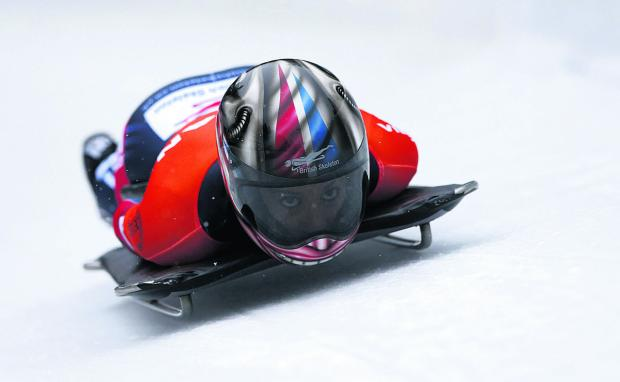 This Is Wiltshire: Shelley Rudman slides towards European silver at Konigssee last Friday
