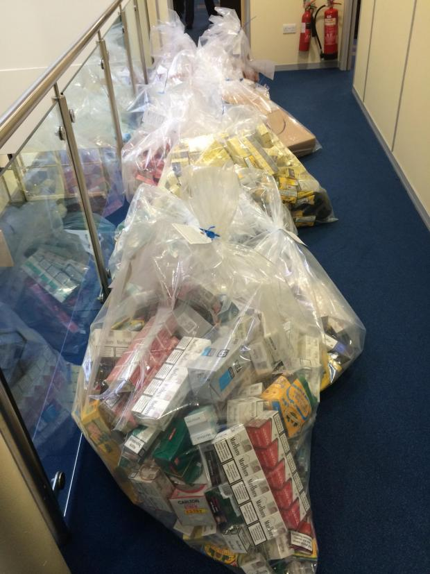 This Is Wiltshire: Some of the illegal tobacco seized yesterday