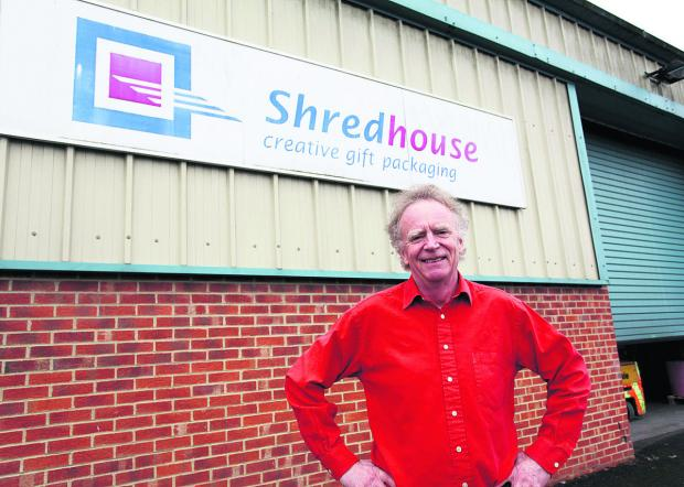 This Is Wiltshire: Shredhouse managing director Phil Stephens at his soon to expand warehouse in Pewsey