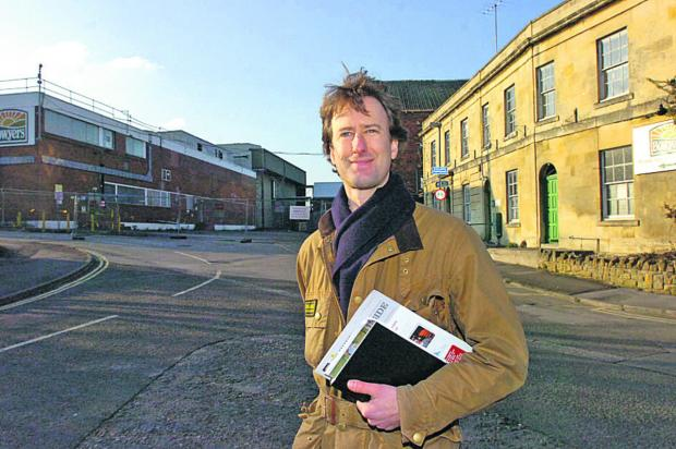 This Is Wiltshire: delighted Angus Horner from Prorsus stands outside the old Bowyers factory, which his company can now develop