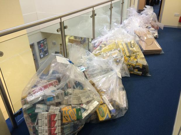 This Is Wiltshire: The illegal tobacco seized from a Melksham address