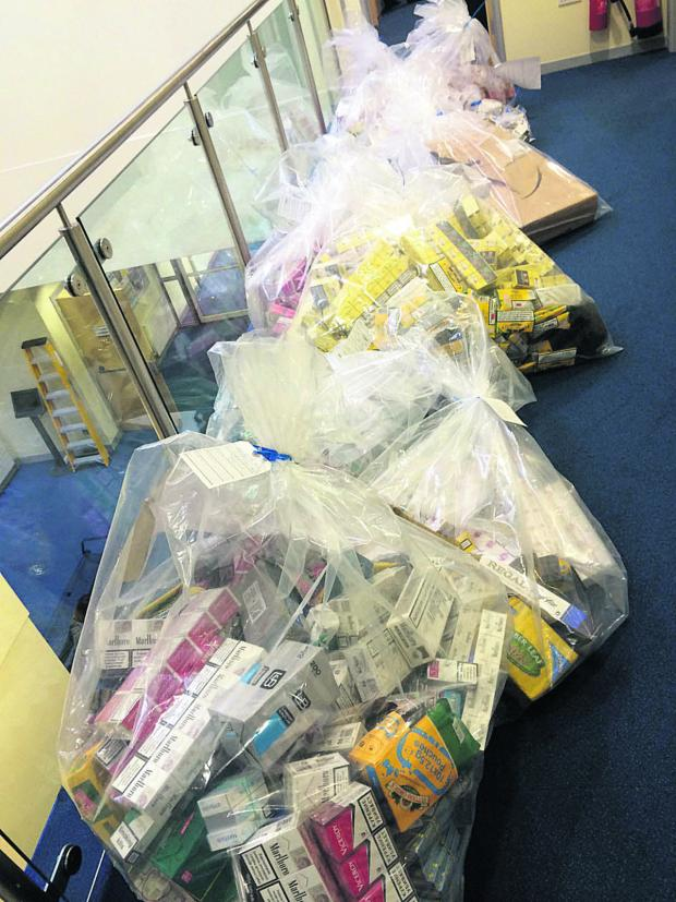 This Is Wiltshire: £65,000 (street value) of illegal tobacco was seized as a result of Operation Harness