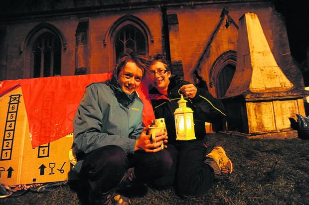 This Is Wiltshire: Settling down at St Andrew's are Katie and Sarah Brunskill of Great Somerford