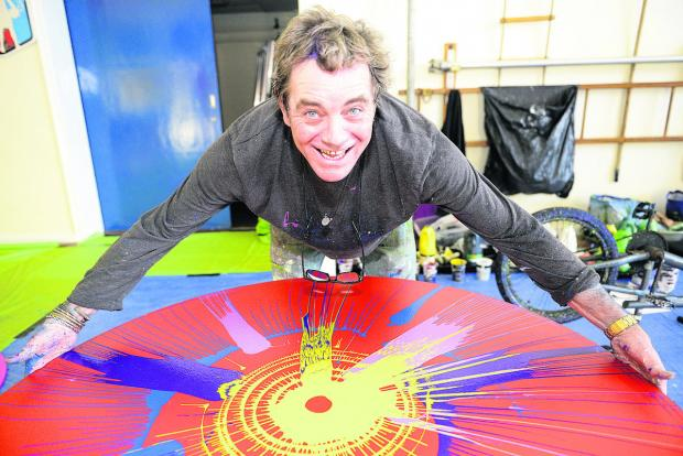 This Is Wiltshire: Gordon Dickinson, who has been presented with a Swindon Art Hero award