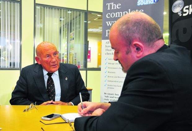 This Is Wiltshire: Sir Stirling Moss talks to Barrie Hudson