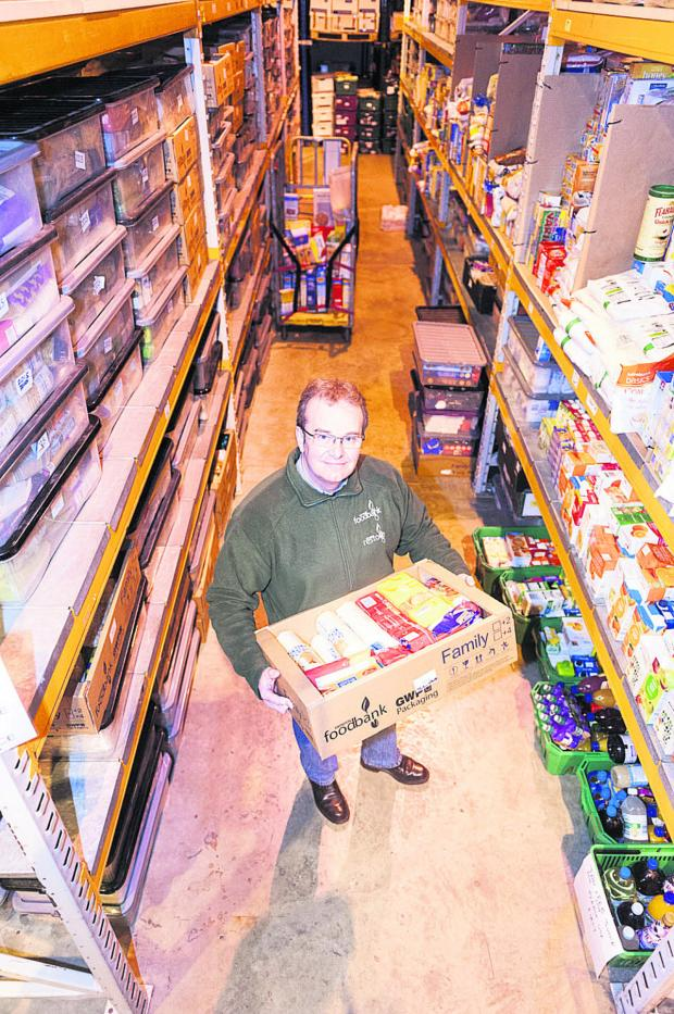 This Is Wiltshire: Foodbank project manager David Hartridge