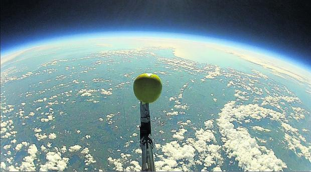 This Is Wiltshire: An image taken from the sort of weather balloon which will be launched in Malmesbury in May