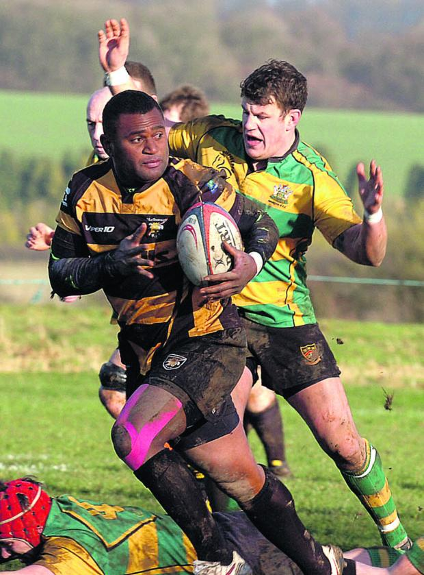 This Is Wiltshire: Mori Nailago goes on the attack during Marlborough's Vase victory (Picture by Paul Morris)
