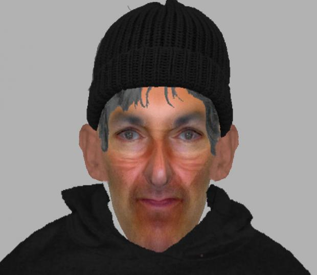 This Is Wiltshire: An Efit of a man police wish to speak to following an attempted burglary in Chiseldon on January 15