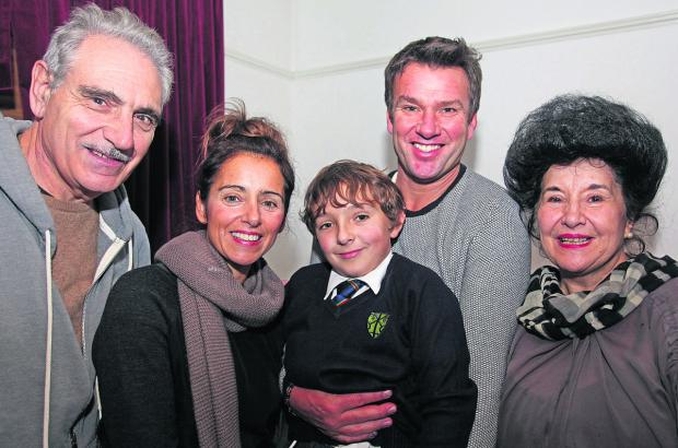 This Is Wiltshire: Luca Railton, centre, with his parents and grandparents, from left, Natale Zarola, Teresa Railton Alex Railton and Maria Zarola