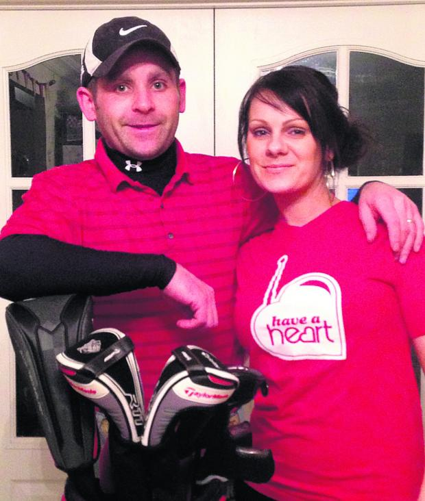This Is Wiltshire: Paul Sparrowhawk has organised a golf day to support his wife Claire's fundraising efforts for various charities