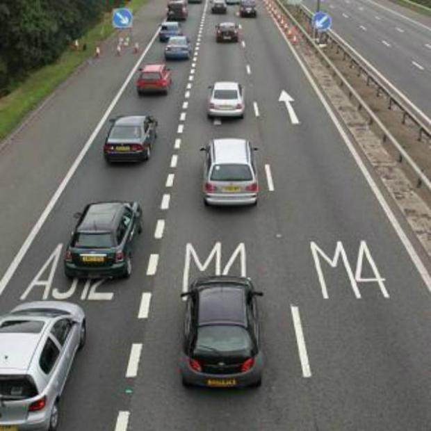 This Is Wiltshire: The M4 was closed in both directions yesterday morning after a man was spotted on an overbridge.