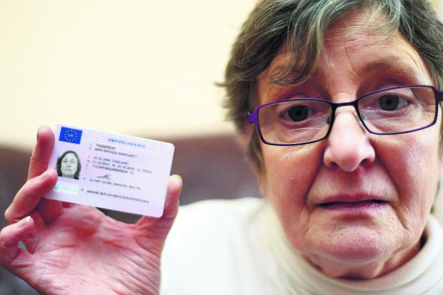 This Is Wiltshire: Brenda Thompson was charged £70, rather than the usual £20, to renew her driving licence photo by a website that appeared to be linked  with the DVLA