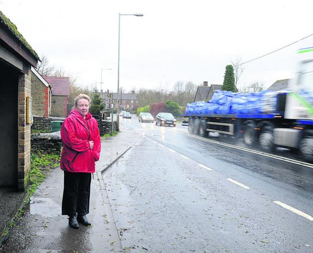 This Is Wiltshire: Road safety group member Edelgard Chivers wants to see a pedestrian crossing in Corston