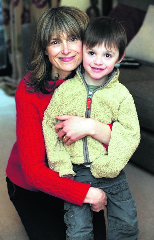 This Is Wiltshire: Julia Kerin with three-year-old son Paddy