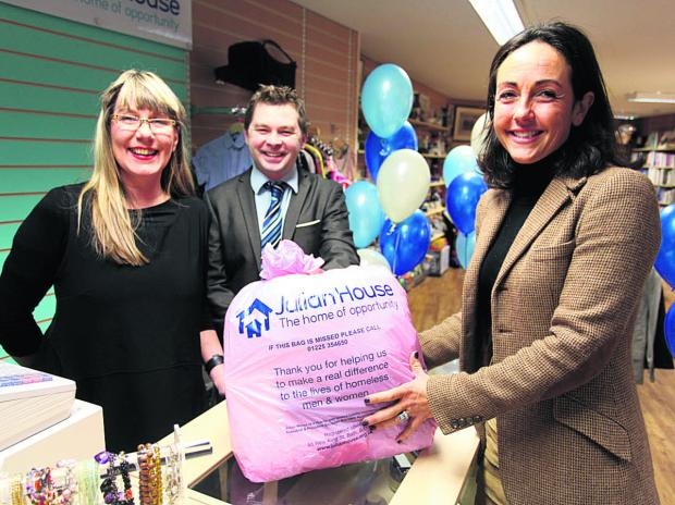 This Is Wiltshire: Linda Raud, Guy Fendy and Lady Venetia Fuller at the shop launch