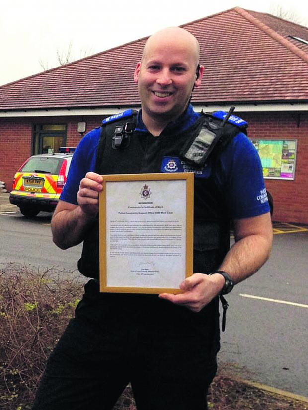 This Is Wiltshire: PCSO Mark Cook used local knowledge to home in on his suspect