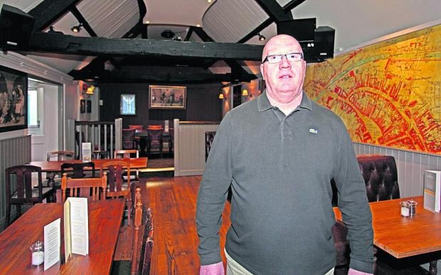 This Is Wiltshire: Jim Lynch, landlord of The Crown in Devizes                   (VS136) By VICKY SCIPIO
