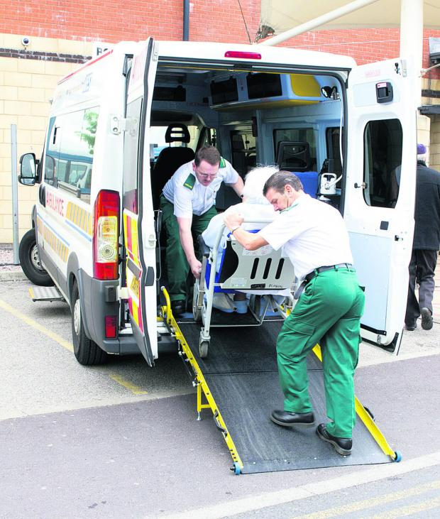 This Is Wiltshire: Aviva Transport Solutions transporting a patient