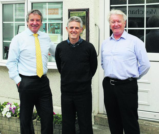 This Is Wiltshire: Practitioners Andrew Rhys Evans, Jolyon Livingston and Dennis Pearce outside Cricklade Dental Practice
