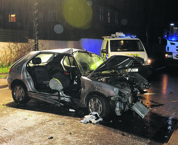 This Is Wiltshire: The scene of last night's crash at Heywood