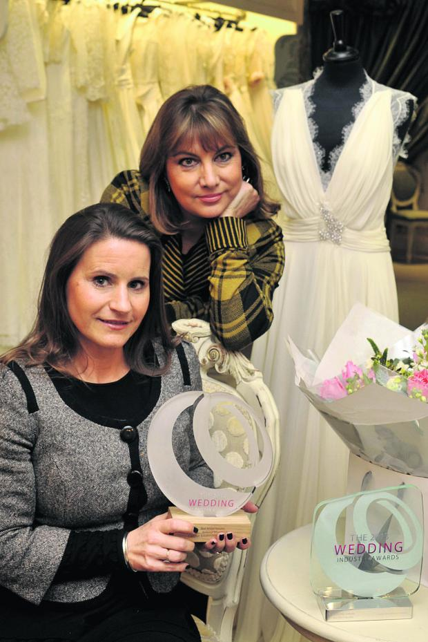 This Is Wiltshire: Lucy Hayward-Rodgers and Carina Baverstock of Carina Baverstock Couture have won a national award                                             Photo: Glenn Phillips (48079)