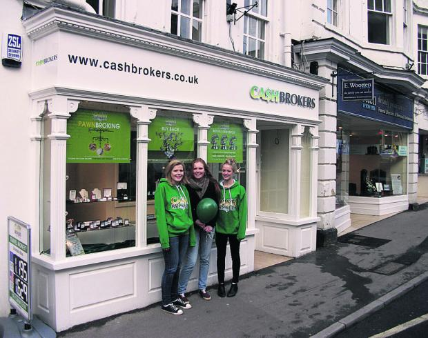 This Is Wiltshire: Cashbrokers employees Joanne Stratford, Emma Symon and Leisa Valentine