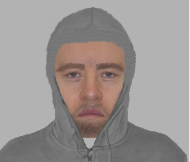 This Is Wiltshire: An Efit of the man police wish to speak to following an attempted robbery on January 1