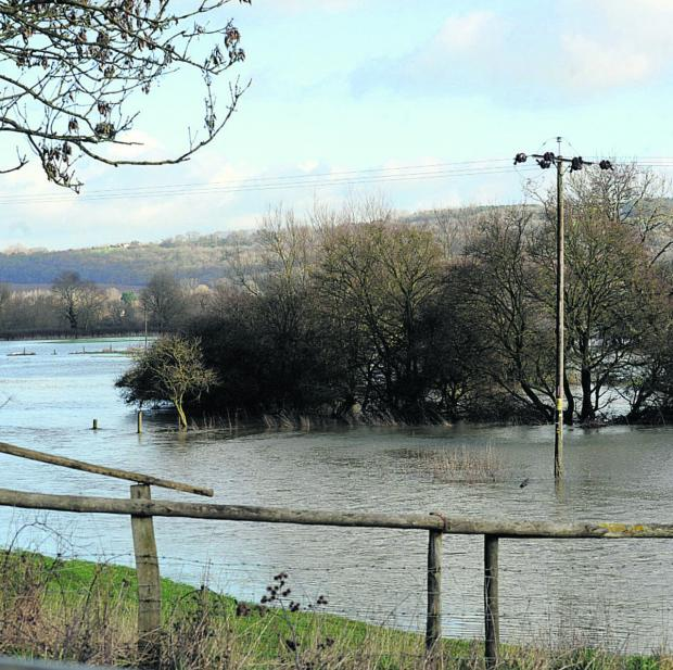 This Is Wiltshire: Flooding around Lacock and Beanacre today
