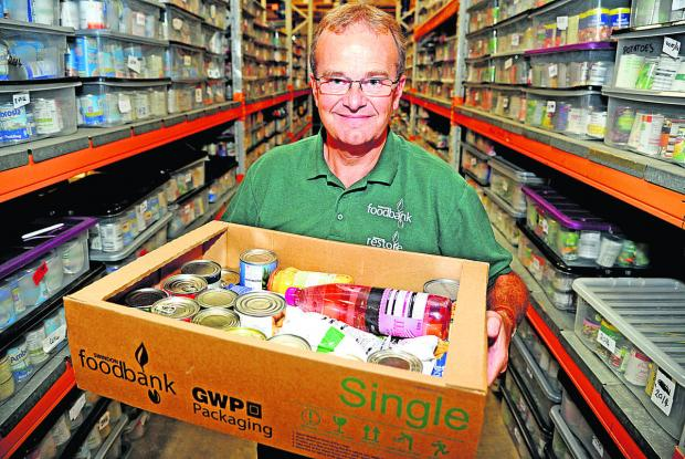 This Is Wiltshire: David Hartridge, the project manager at Swindon Food Bank