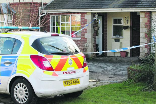 This Is Wiltshire: A house in Butts Road, Chiseldon, where a body was found by police