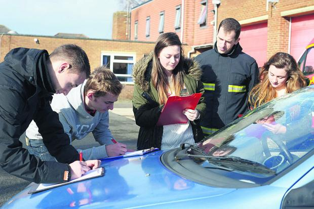 This Is Wiltshire: Students at Stratton Fire Station