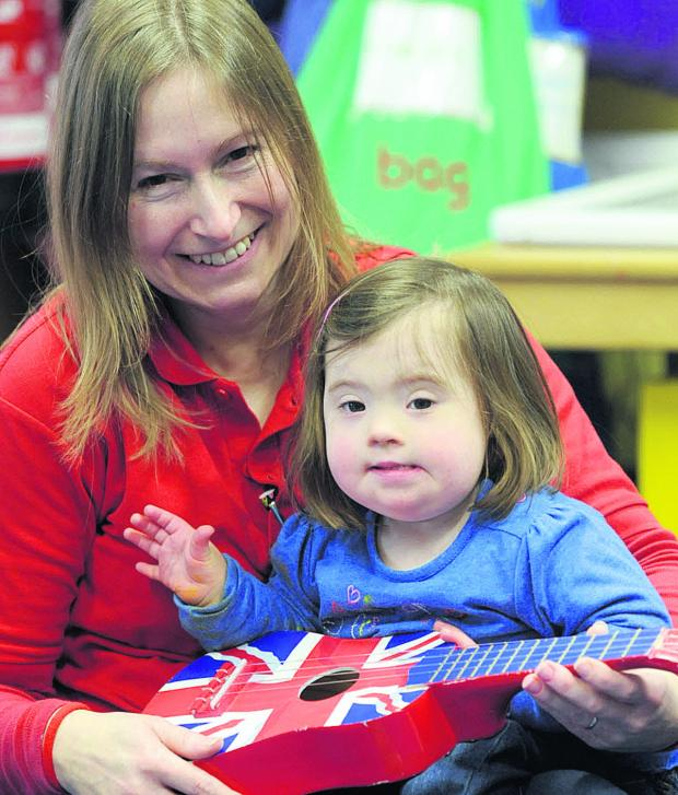 This Is Wiltshire: Springboard key worker Paula Hall with a youngster