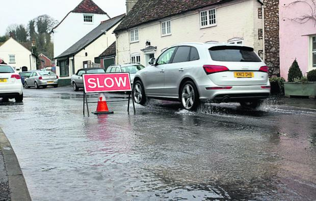 This Is Wiltshire: Flooding in Aldbourne today