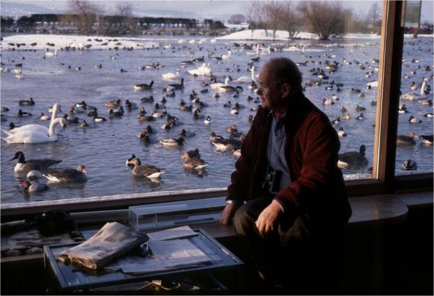 This Is Wiltshire: Members of North and West Wiltshire National Trust Association visited Slimbridge, founded by the late Sir Peter Scott, pictured