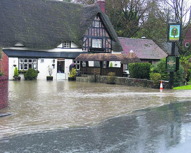 This Is Wiltshire: Flooding at the Royal Oak, Easterton