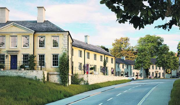 This Is Wiltshire: An artist's impression of what the Kingston Farm development in Bradford on Avon will look like if plans are approved