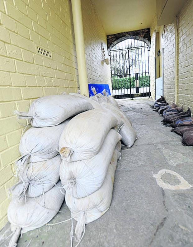 This Is Wiltshire: Sandbags are in demand in parts of Wiltshire as ground-level water threatens to flood homes and roads