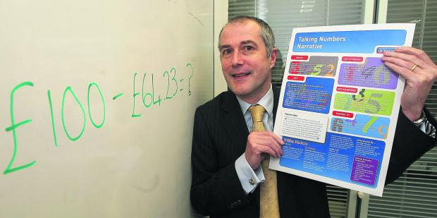 This Is Wiltshire: Steven Uden, of Nationwide, which has launched a programme to help students with maths